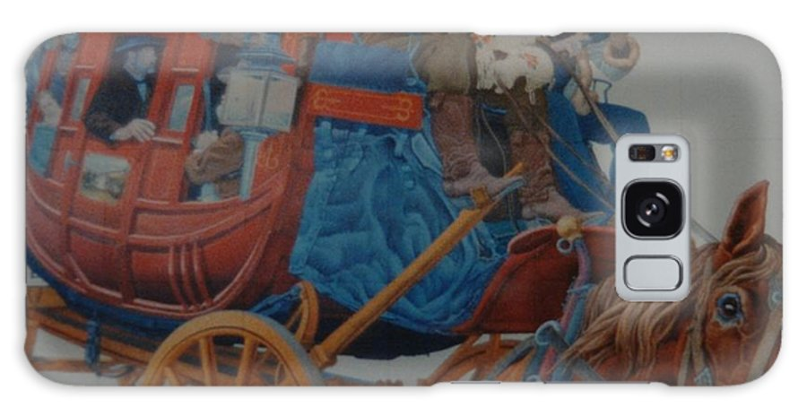 Mural Galaxy S8 Case featuring the photograph Wells Fargo Stagecoach by Rob Hans