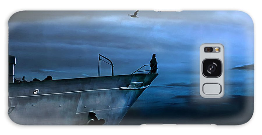 Ship Galaxy Case featuring the photograph West Across The Ocean by Joachim G Pinkawa