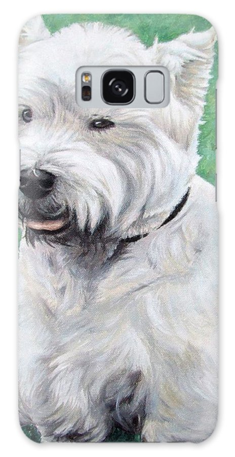 Dog Galaxy Case featuring the painting West Highland Terrier by Nicole Zeug