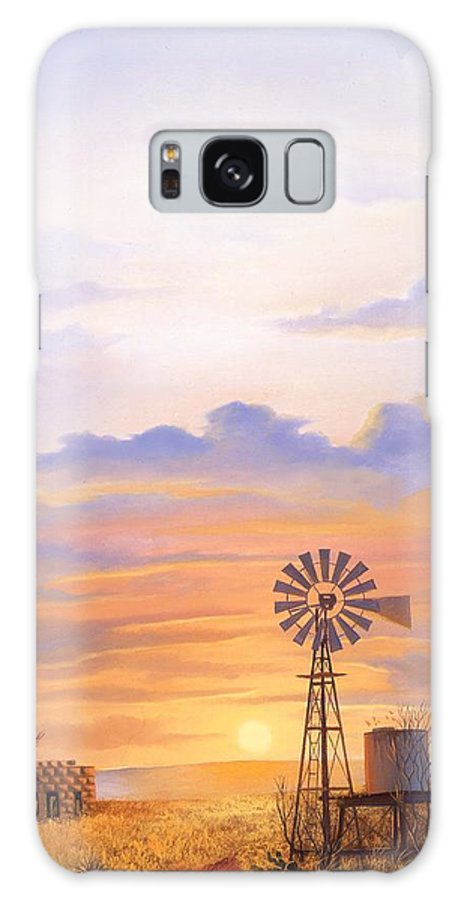 Windmill Galaxy S8 Case featuring the painting West Texas Sundown by Howard Dubois