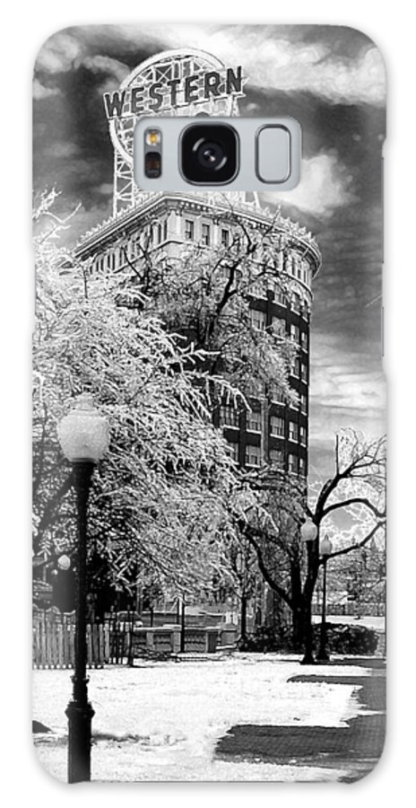 Western Auto Kansas City Galaxy S8 Case featuring the photograph Western Auto In Winter by Steve Karol