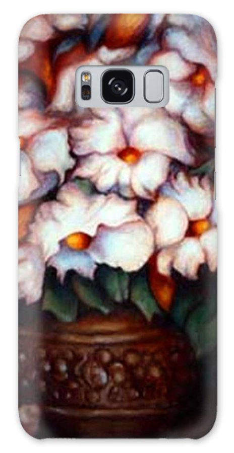 Flower Artwork Galaxy S8 Case featuring the painting Western Flowers by Jordana Sands