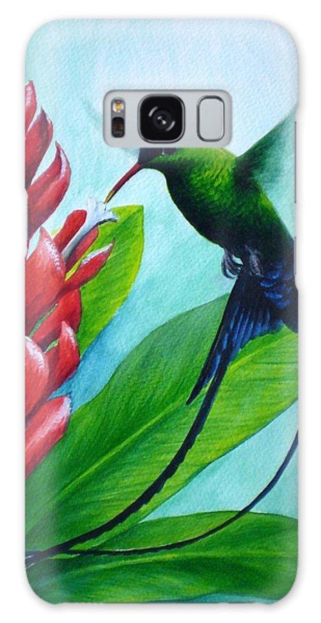 Western Streamertail Hummingbird Galaxy S8 Case featuring the painting Western Streamertail Hummingbird by Christopher Cox