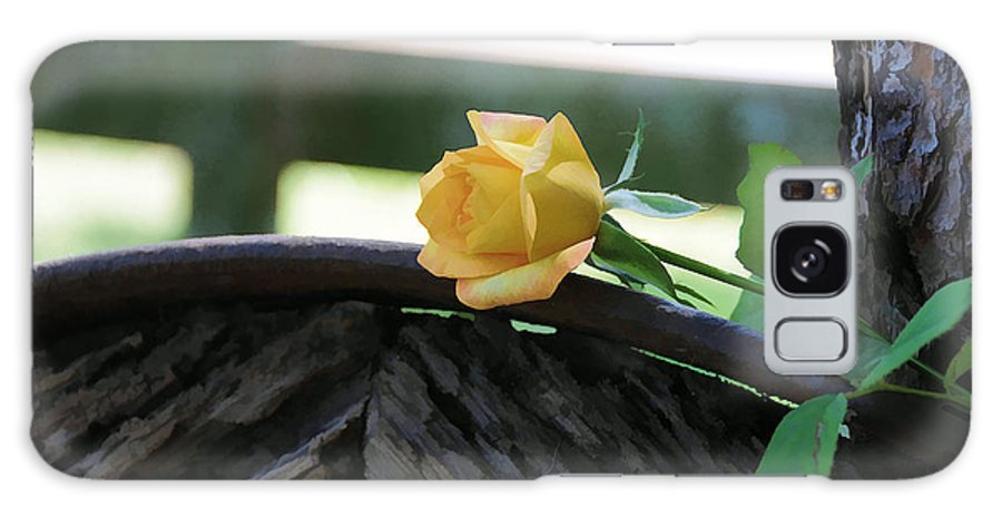 Rose Galaxy S8 Case featuring the photograph Western Yellow Rose Vii by Jody Lovejoy
