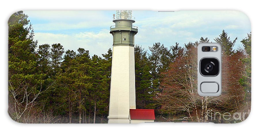 Lighthouse Galaxy Case featuring the photograph Westport Lighthouse by Larry Keahey