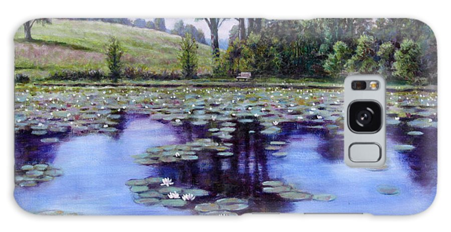 Landscape Galaxy Case featuring the painting Wet Land - Shaw Nature Reserve by John Lautermilch