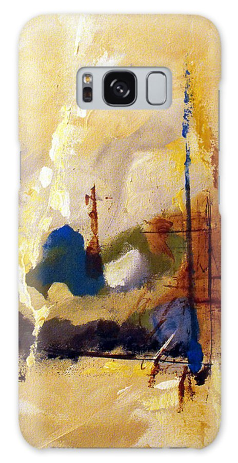 Abstract Galaxy Case featuring the painting Wharf by Ruth Palmer