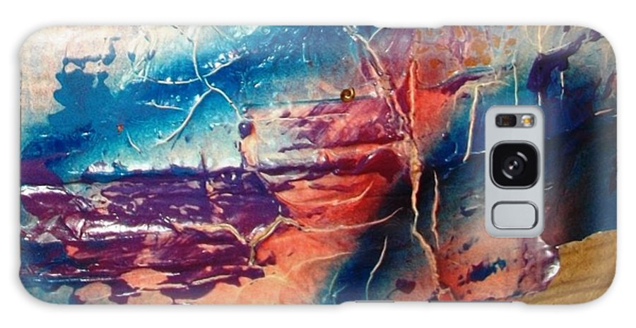 Abstract Galaxy S8 Case featuring the painting What Have We Done To The Sea by Bruce Combs - REACH BEYOND