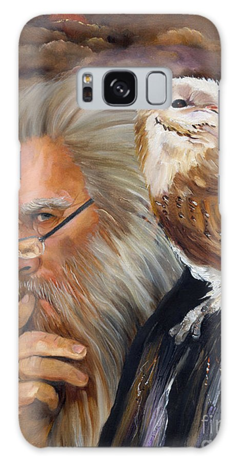 Wizard Galaxy Case featuring the painting What If... by J W Baker