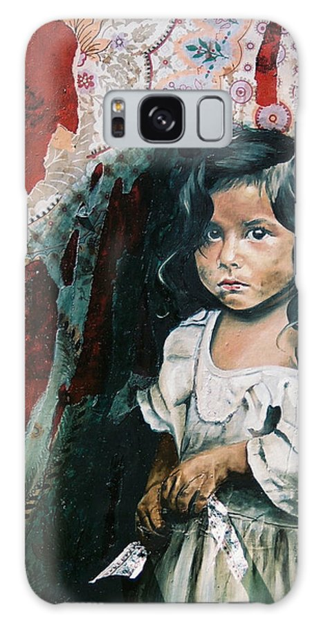 Asian Girl Galaxy S8 Case featuring the painting What Is My Worth by Teresa Carter