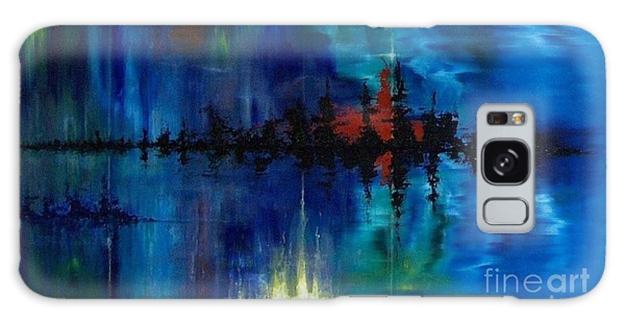 Non Objective Galaxy Case featuring the painting What Lies Beneath by M J Venrick