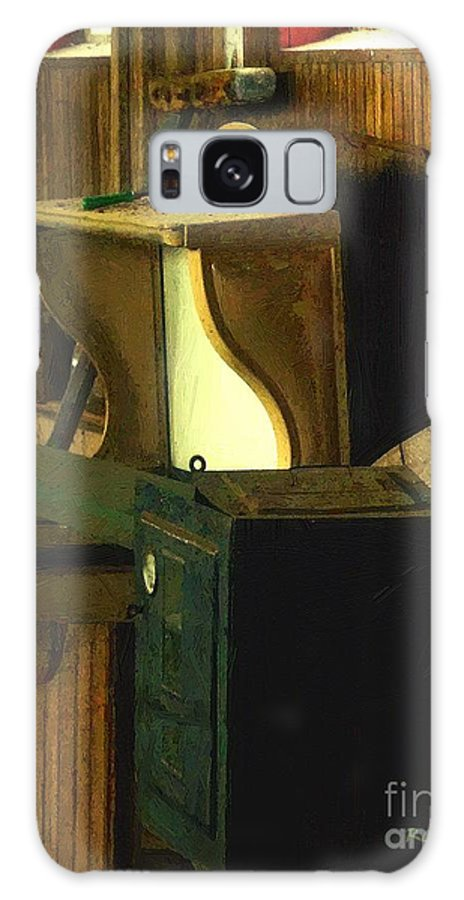 Antiques Galaxy S8 Case featuring the painting What We Saw In The Shed by RC DeWinter
