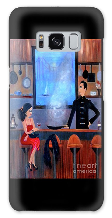 Food Galaxy S8 Case featuring the painting What's Cookin'? by Artist Linda Marie