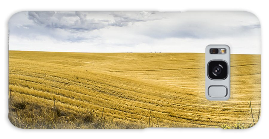 Autumn Galaxy S8 Case featuring the photograph Wheat Fields With Storm by John Trax