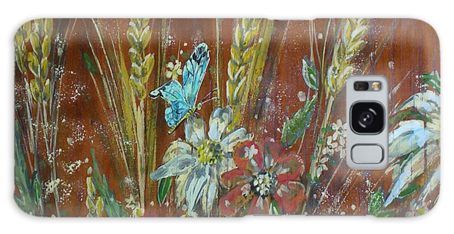 Flowers Galaxy S8 Case featuring the painting Wheat 'n' Wildflowers I by Phyllis Mae Richardson Fisher