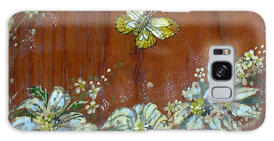 Wildflowers Galaxy S8 Case featuring the painting Wheat 'n' Wildflowers IIi by Phyllis Mae Richardson Fisher