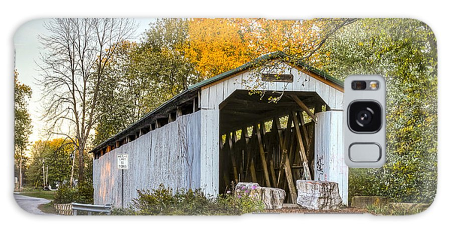 America Galaxy S8 Case featuring the photograph Wheeling Covered Bridge by Jack R Perry