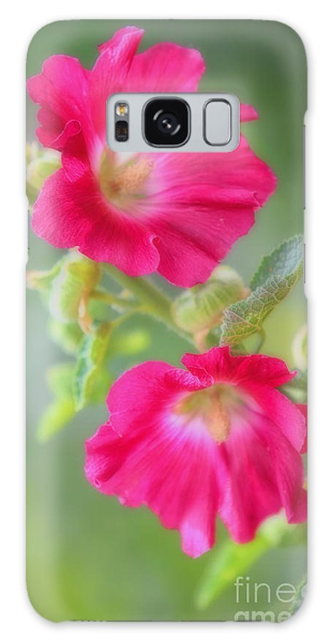 Hollyhock Galaxy S8 Case featuring the photograph Where Flowers Bloom So Does Hope by Elizabeth Winter
