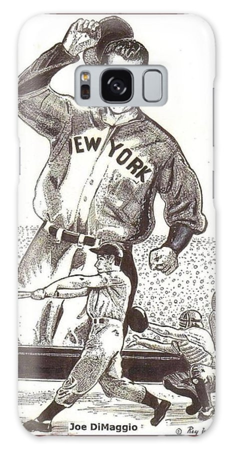Joe Dimaggio Galaxy S8 Case featuring the drawing Where Have You Gone Joe Dimaggio by Ray Tapajna