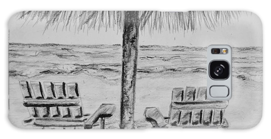 Ocean Adirondack Chairs Galaxy Case featuring the drawing Where I Want to Be by Regan J Smith