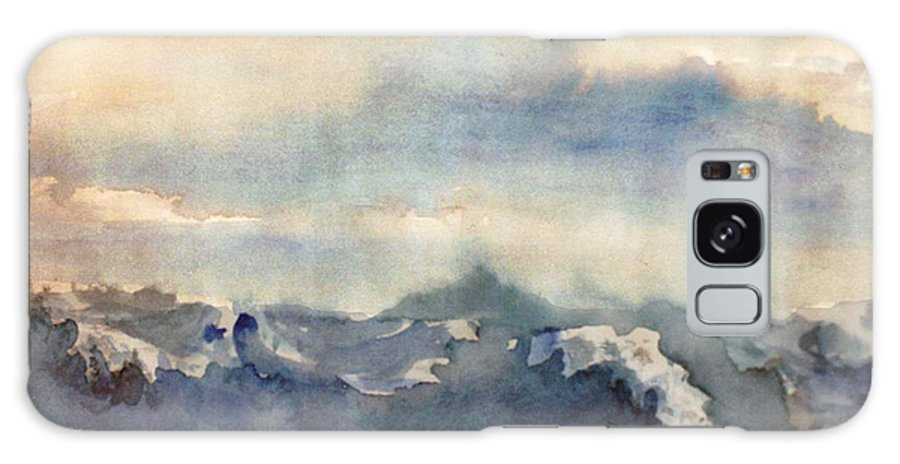 Seascape Galaxy Case featuring the painting Where Sky Meets Ocean by Steve Karol