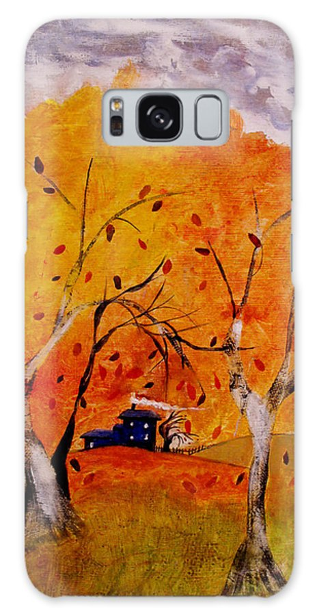 Abstract Galaxy Case featuring the painting Whimsical Wind by Ruth Palmer