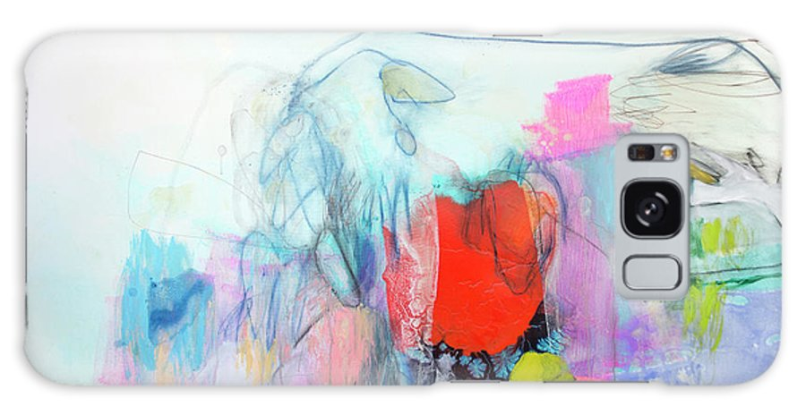 Abstract Galaxy Case featuring the painting Whisper by Claire Desjardins