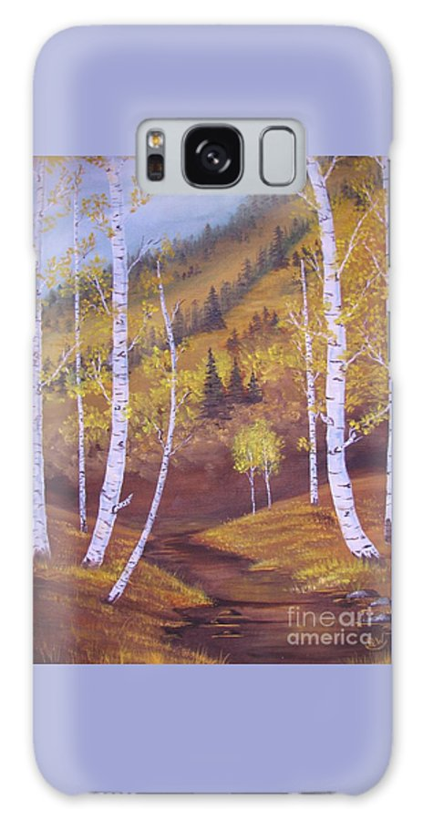 Mountain Galaxy S8 Case featuring the painting Whisper Of Leaves by Duane West