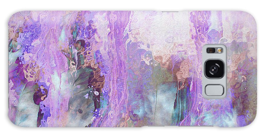 Abstract Art Galaxy Case featuring the digital art Whisper Softly by Linda Murphy