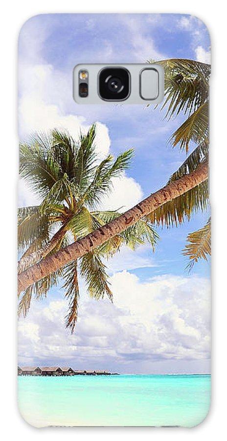 Jenny Rainbow Fine Art Photography Galaxy S8 Case featuring the photograph Whispering Palms. Maldives by Jenny Rainbow