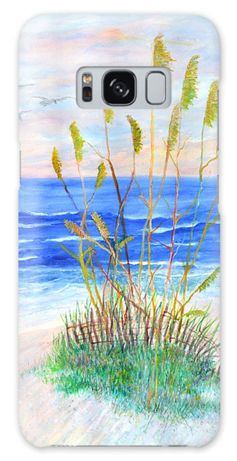 Sea Oats Galaxy Case featuring the painting Whispering Sea Oats by Ben Kiger