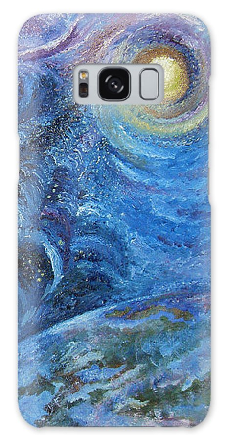 Baby Lambs Galaxy Case featuring the painting White Baby Lambs Of Peaceful Nights by Karina Ishkhanova