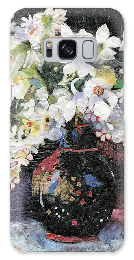 Limited Edition Prints Galaxy Case featuring the painting White Celebration by Nira Schwartz