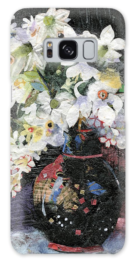 Limited Edition Prints Galaxy S8 Case featuring the painting White Celebration by Nira Schwartz