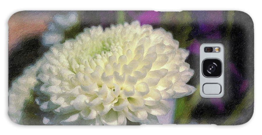 White Chrysanthemum Flower Beautiful Mum Galaxy S8 Case featuring the photograph White Chrysanthemum Flower by David Zanzinger