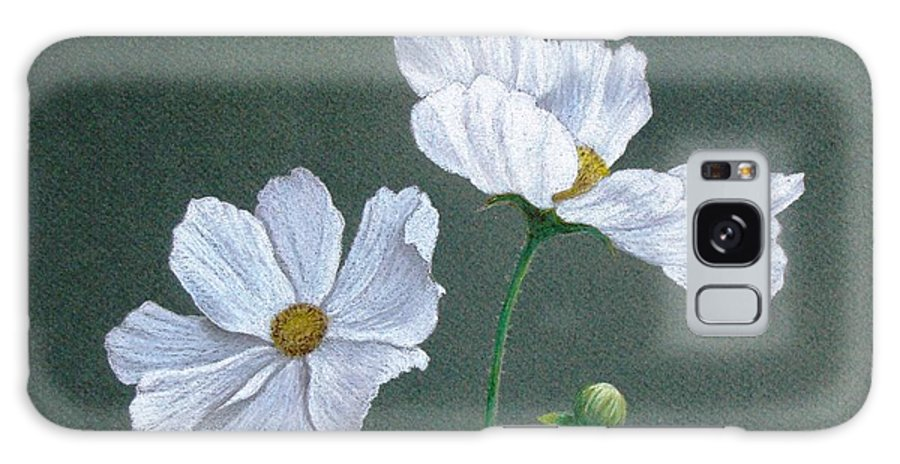 Phyllis Howard Galaxy S8 Case featuring the drawing White Cosmos by Phyllis Howard