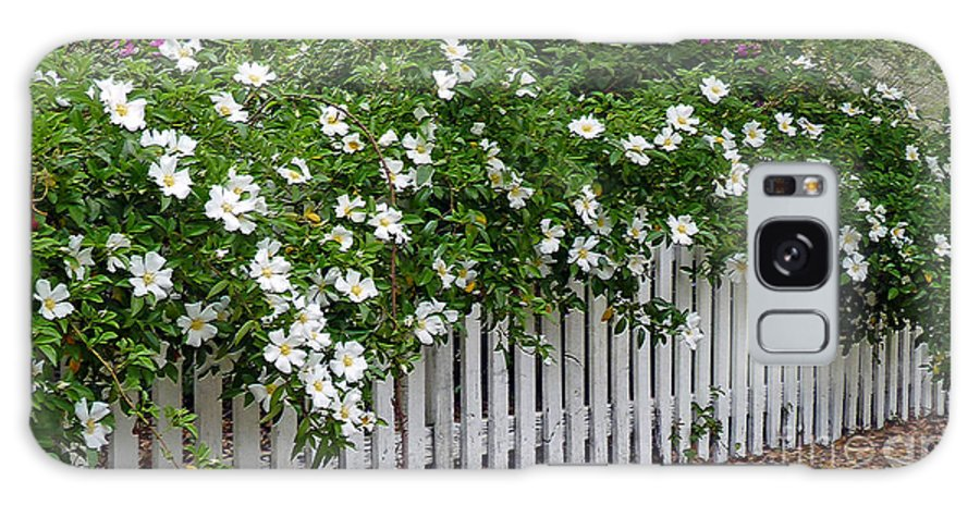 White Galaxy S8 Case featuring the photograph White Picket Fence by Linda Vodzak