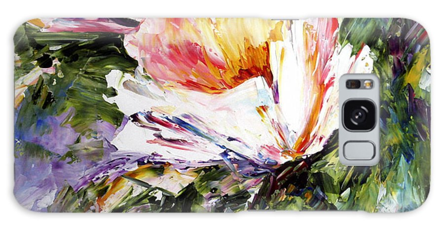 White Flowers Galaxy Case featuring the painting White Flowers by Laurie Pace