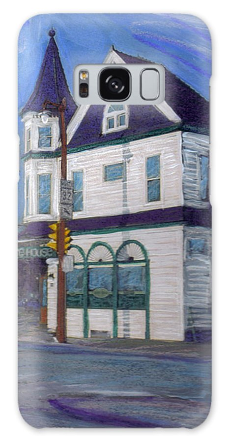 White House Tavern Galaxy S8 Case featuring the mixed media White House Tavern by Anita Burgermeister