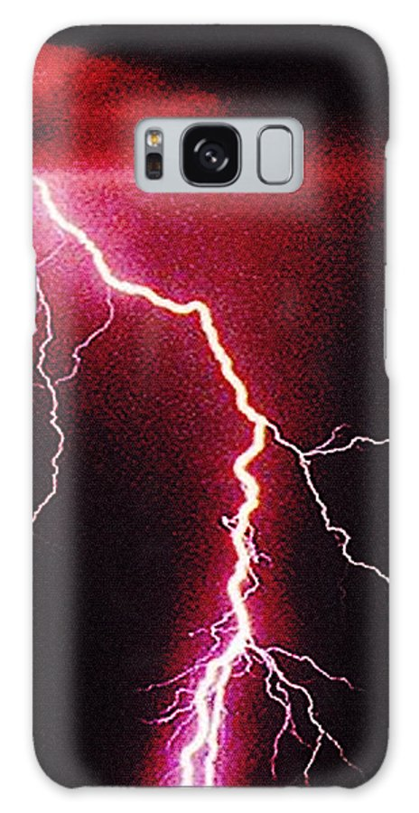 Landscape Galaxy Case featuring the photograph White Lightning by Vicky Brago-Mitchell