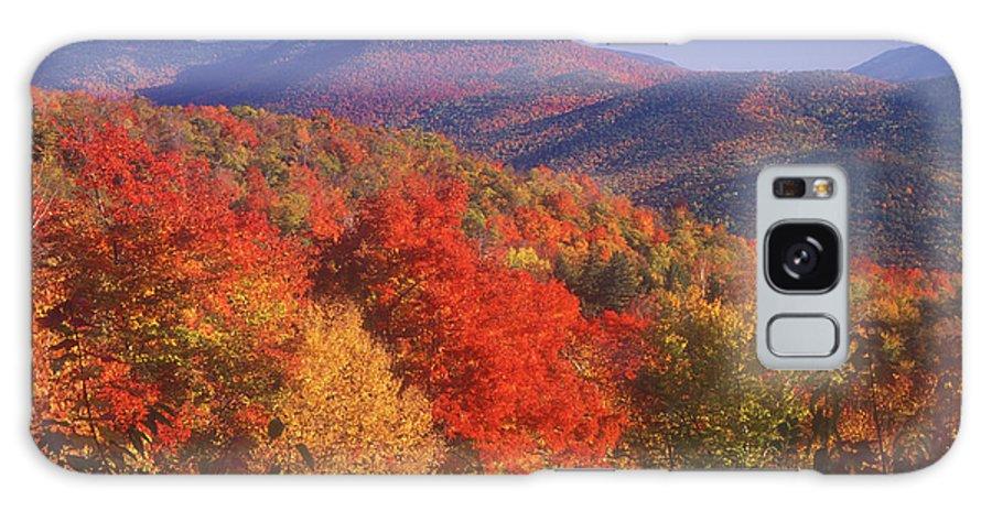 Autumn Galaxy S8 Case featuring the photograph White Mountain Foliage Bear Notch by John Burk