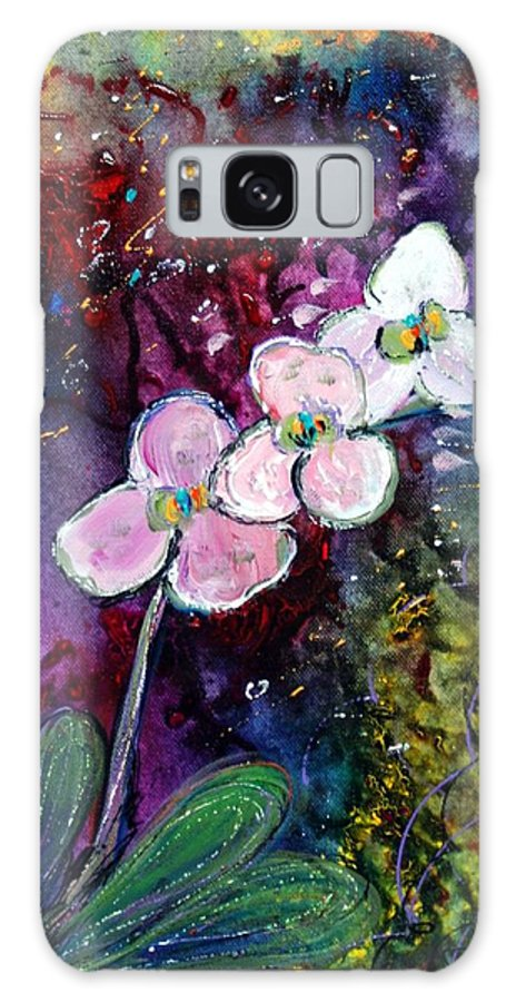Flowers Galaxy S8 Case featuring the painting White Orchid by Luiza Vizoli
