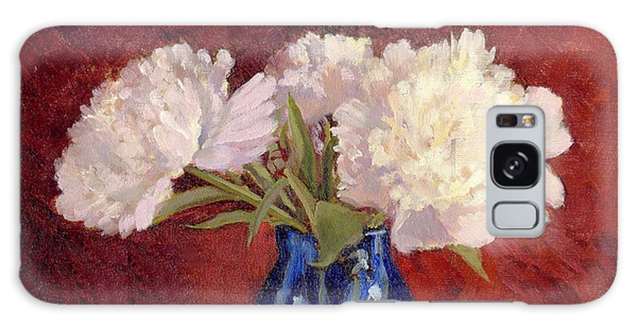 Peonies Galaxy S8 Case featuring the painting White Peonies by Keith Burgess