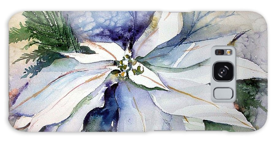 Floral Galaxy S8 Case featuring the painting White Poinsettia by Mindy Newman