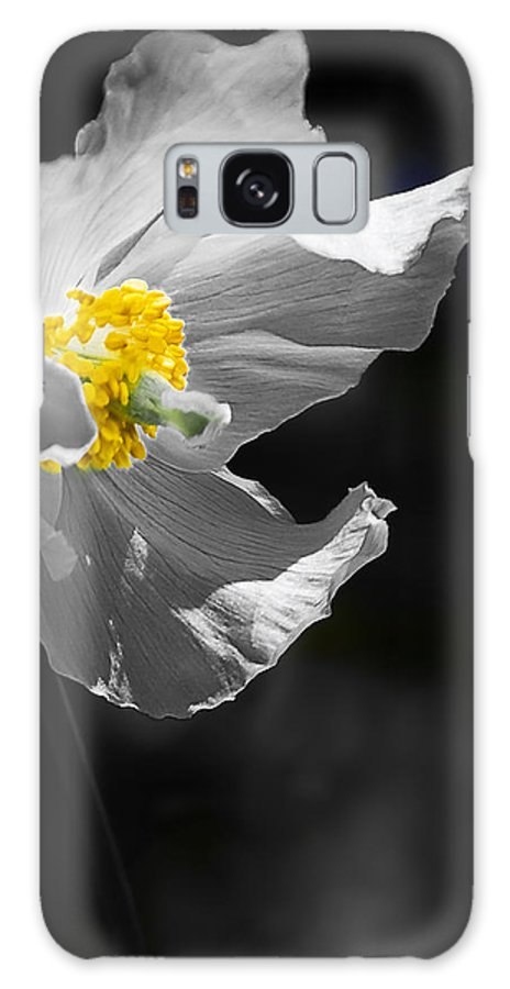 Flower Galaxy S8 Case featuring the photograph White Poppy by Svetlana Sewell
