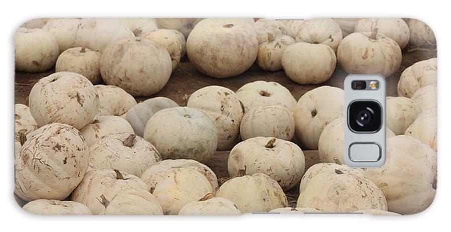 White Pumpkins Galaxy S8 Case featuring the photograph White Pumpkins by Carol Groenen