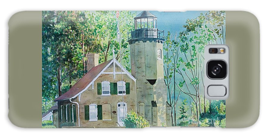 Michigan Galaxy Case featuring the painting White River Light by LeAnne Sowa