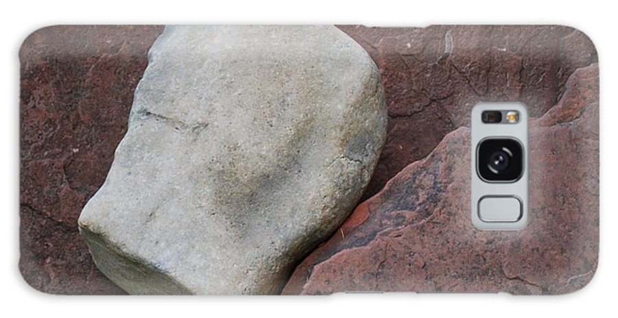 Color Galaxy S8 Case featuring the photograph White Rock On Red Rock Number 1 by Heather Kirk