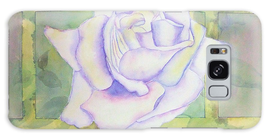 Watercolor Galaxy S8 Case featuring the painting White Rose by Debbie Lewis