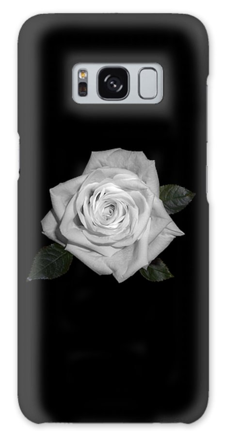 Rose Galaxy S8 Case featuring the digital art White Rose by Fabian G